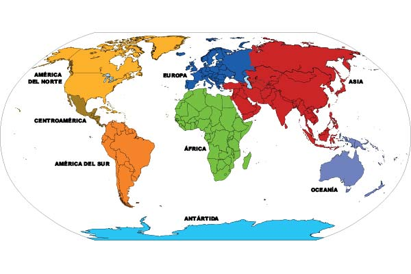 Mapamundi 8 continentes miniatura