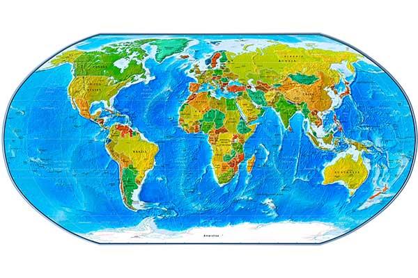 Mapamundi político 02 miniatura