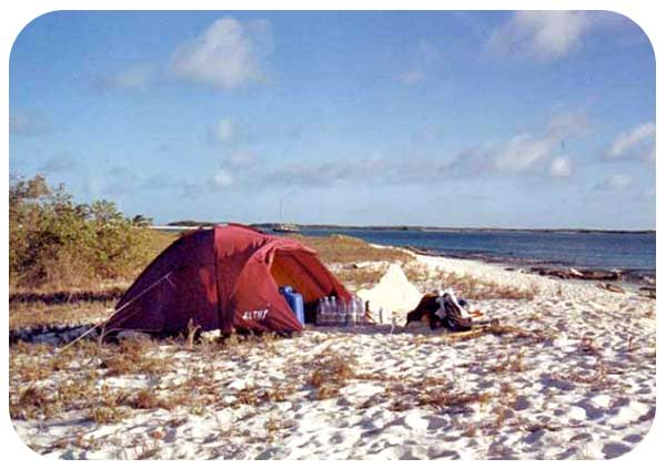 acampar archipielago de los roques