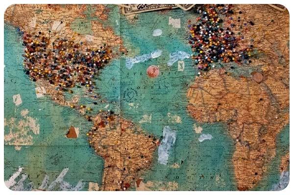 mapa mundi viajes