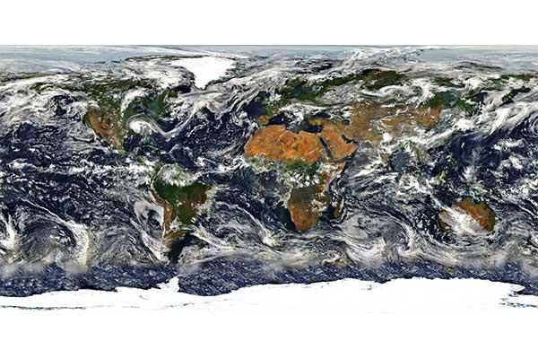 mapamundi textura 3D nubes miniatura