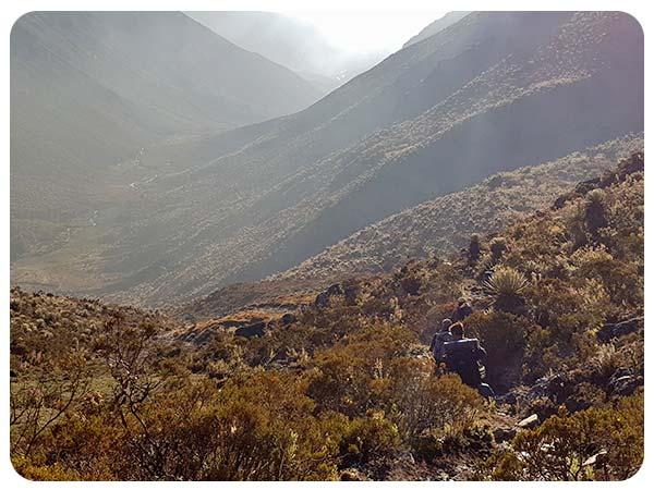 parque nacional paramo la culata descenso